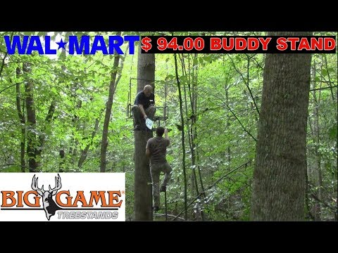 Walmart $94.00 2 Man Ladder Tree Stand Review By BIG GAME