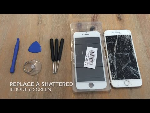 the latest f5614 e6c8a How to Replace a Shattered iPhone 6 Screen - YouTube