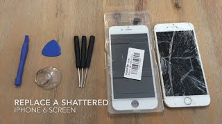 Video How to Replace a Shattered iPhone 6 Screen download MP3, 3GP, MP4, WEBM, AVI, FLV Oktober 2018