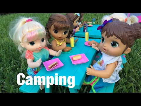 BABY ALIVE Summer camp: Camping! Ghost?!