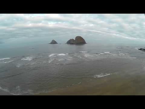 Oceanside beach from a drone july 6th