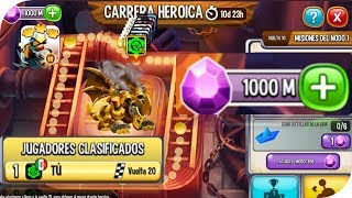 TERMINANDO 20 VUELTAS EN LA NUEVA CARRERA HEROICA EN DRAGON CITY NOBLE DRAGON OCTANO