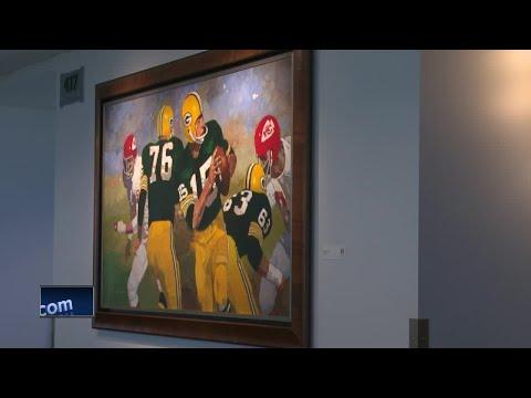 New Green Bay Packers art on display at Lambeau Field