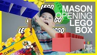 MASON OPENS LEGO BOX! | Mason's Toys