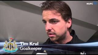 John Carver and Tim Krul on Chelsea defeat