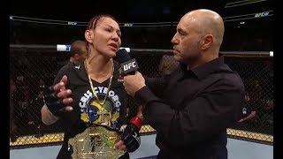 UFC 222: Cris Cyborg Octagon Interview