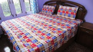 Bombay Dyeing Elements 120 TC Polycotton Double Bedsheet with 2 Pillow Covers - Red (1625))