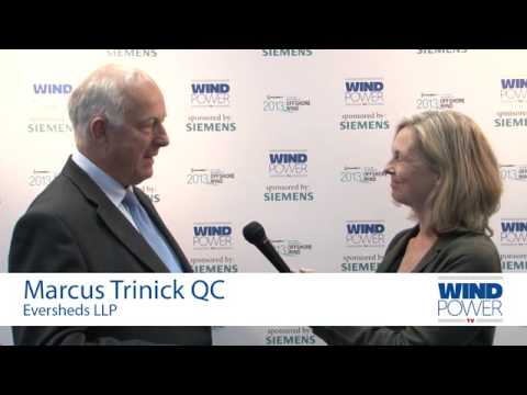 Marcus Trinick QC interviewed at Offshore Wind 2013