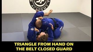 Triangle From Hand On The Belt Closed Guard by Nicholas Meregali