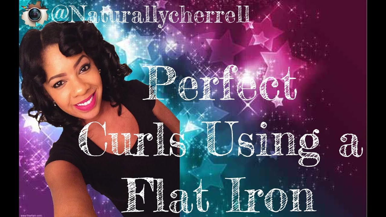 how to make curls with flat iron youtube