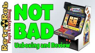 Dig Dug My Arcade Mini Arcade Unboxing, Review and Gameplay