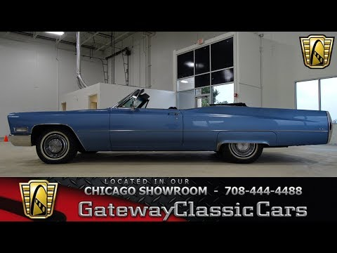 1968 Cadillac DeVille Convertible Gateway Classic Cars Chicago #1303