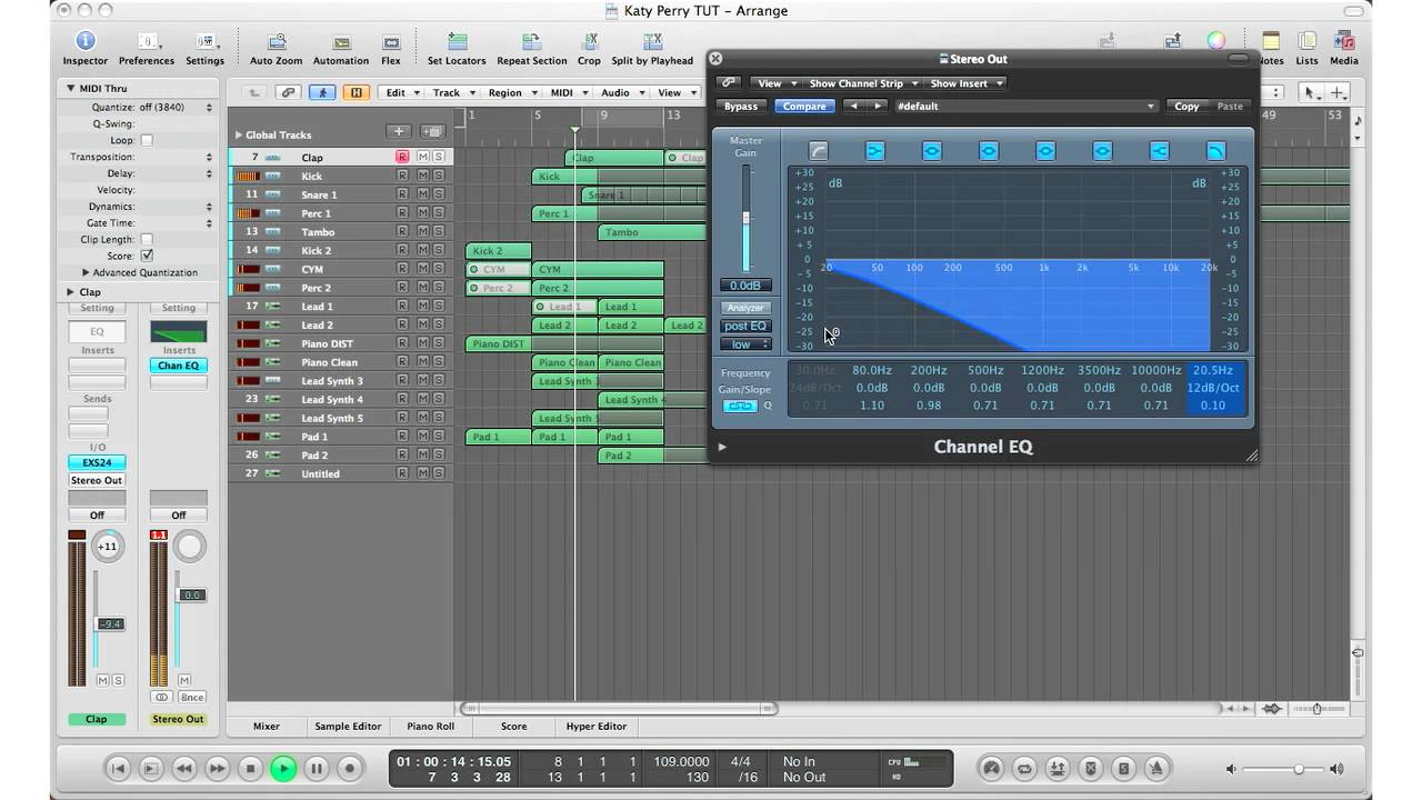 How To Logic Pro 9 Tutorial Low Pass High Cut Filter Effect A Frequency Doubler For Electric Guitar Heard In Pop Rnb Music Youtube