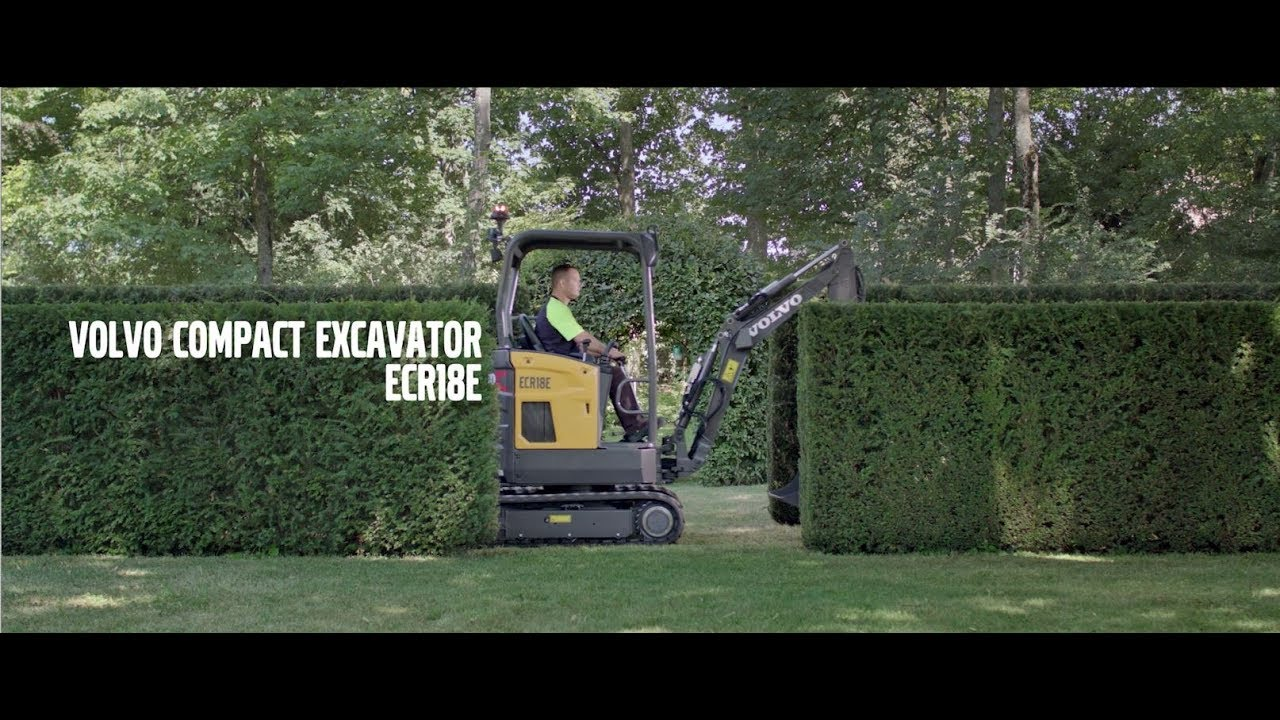Product video: Volvo compact excavator ECR18E