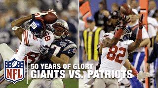 Giants vs. Patriots | Super Bowl XLII & XLVI Highlights | 50 Years Of Glory | NFL