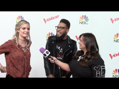 The Voice's Lauren Duski and T Soul Red Carpet Interview (Team Blake Shelton )