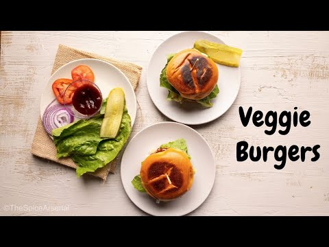 Easy Chickpeas Veggie Burger Recipe