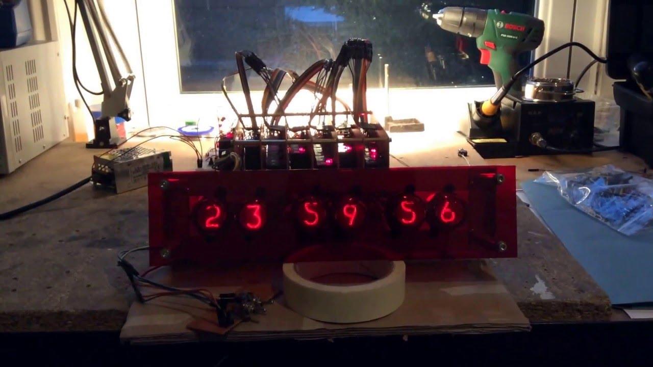 Electromechanical Relay Nixie Tube Digital Clock Prototype With - Electromechanical relay logic