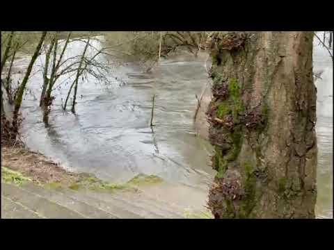 Crecida del río Miño a su paso por Ourense