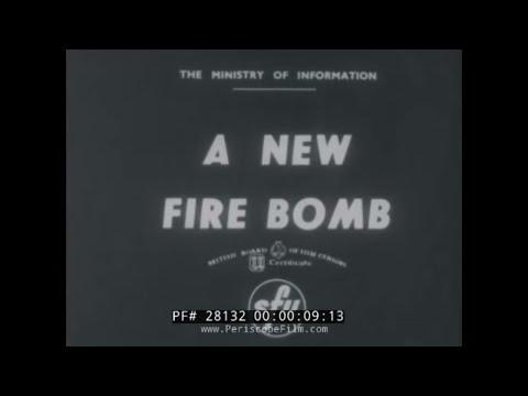 "BRITISH WWII CIVIL DEFENSE FILM ""A NEW FIRE BOMB"" INCENDIARIES 28132"
