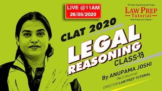 """Class-19 Legal Reasoining By Anupama Ma'am on Law of Tort (""""Capacity of Parties"""" and """"Negligence"""")"""