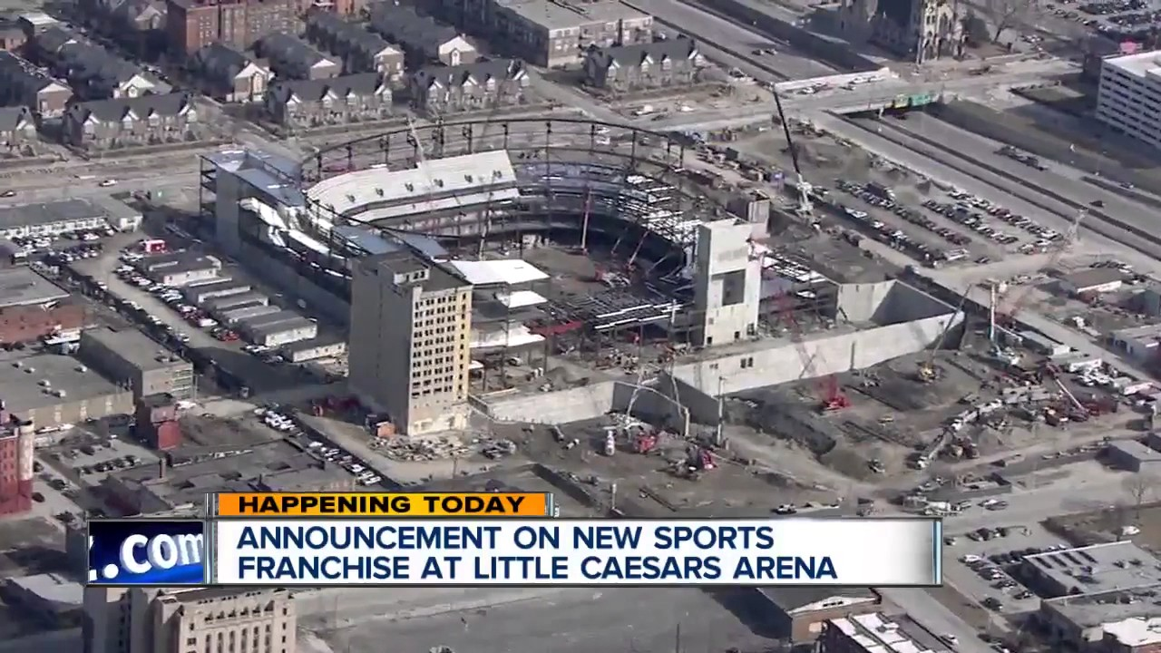 New sports franchise coming to little caesars arena youtube for Motor city casino little caesars