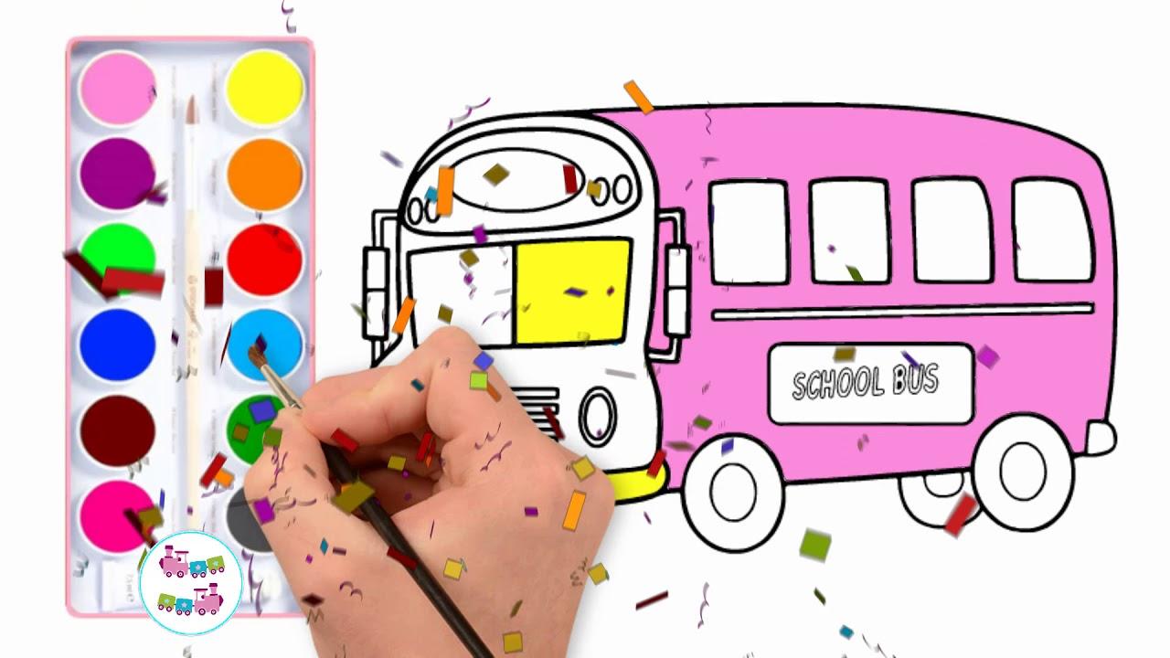 Como Desenhar Um Onibus Escolar Facil Passo A Passo Desenho E