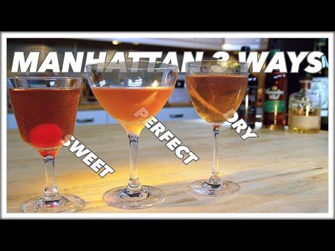 🔞 How To MAKE A MANHATTAN Cocktail 3 Ways
