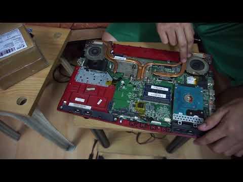 MSI GE62 Tear Down and Fan Fix