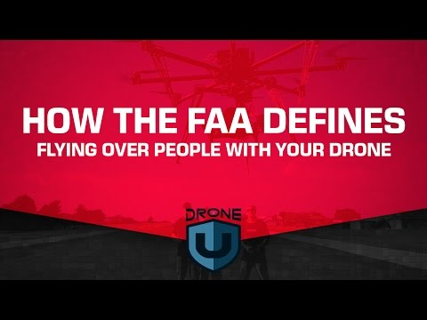 How the FAA defines flying over people with your drone