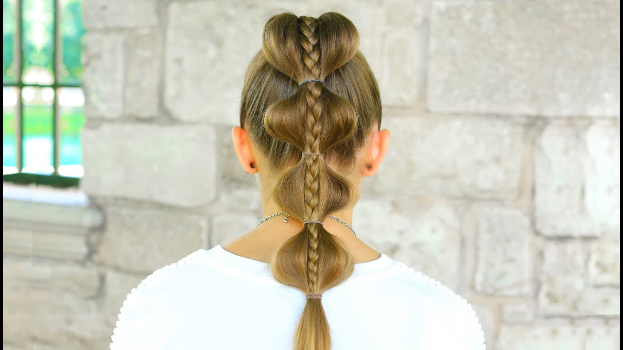 Stacked Bubble Braid Back to School Hairstyles YouTube