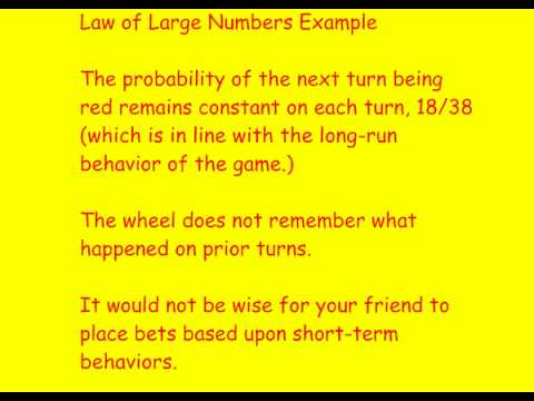 AP Stats Video Law of Large Numbers.wmv - YouTube