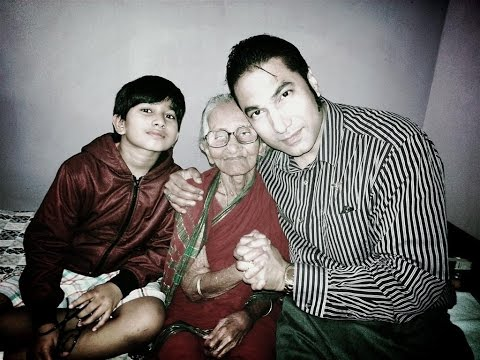 SANJAY SR. with RADHA'S GRANDMOTHER  | 1st TIME MEETING | BERHAMPUR, ORISSA, INDIA