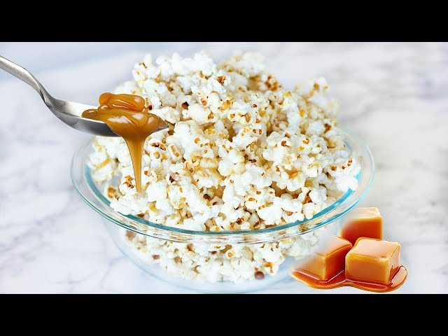HEALTHY MOVIE NIGHT SNACKS! HEALTHY CARAMEL POPCORN & MORE!