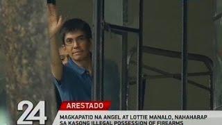 24 oras magkapatid na angel at lottie manalo nahaharap sa kasong illegal possession of firearms