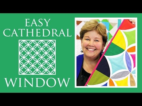 Easy Cathedral Window Quilt: Simple Quilting Tutorial with Jenny Doan of Missouri Star Quilt Co