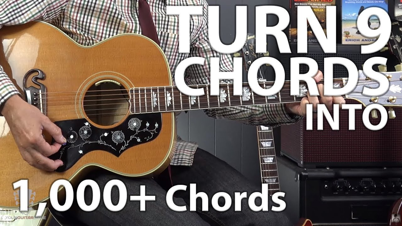 Using A Capo To Turn 9 Chords Into 1 000 Songs On Guitar Youtube