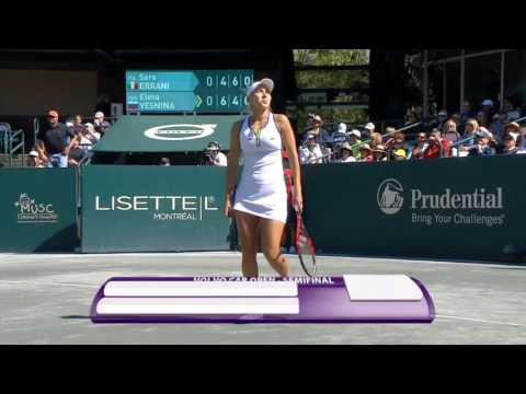 2016 Volvo Car Open Semifinals | Elena Vesnina vs Sara Errani | WTA Highlights