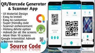 How to Create QR Code and Barcode scanner reader Android App screenshot 4
