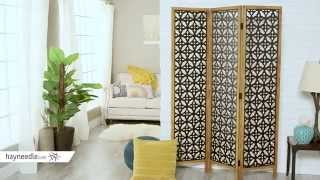 Belham Living Marrakesh Wood Frame Room Divider - Product Review Video