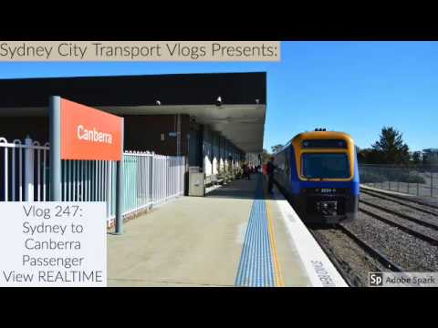 Sydney City Transport Vlog 247: Sydney To Canberra (by Train) Passenger View REALTIME