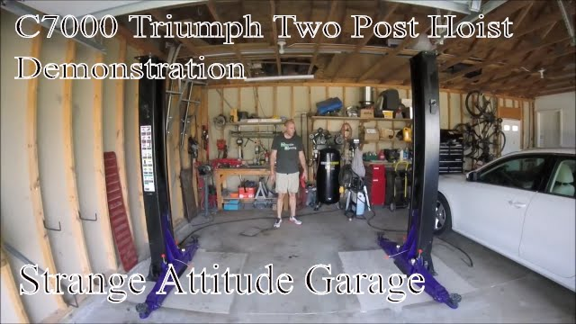 Strange Attitude Garage  C7000 Triumph 2 Post Lift