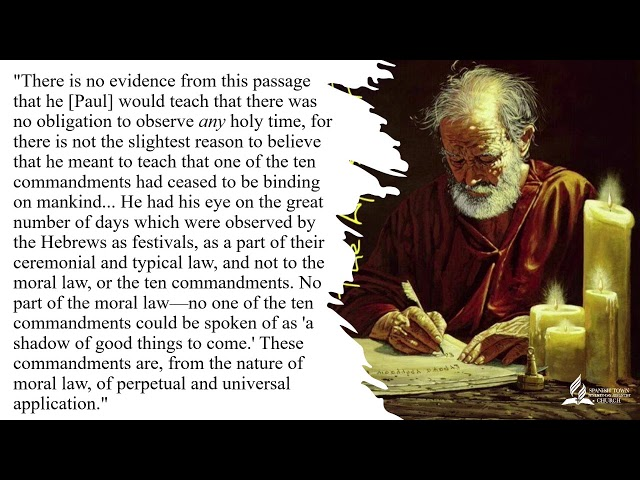 Bible Class-The Law And Paul