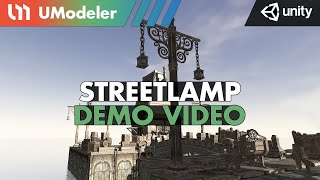 Streetlamp Modeling with UModeler 2.0 in Unity.
