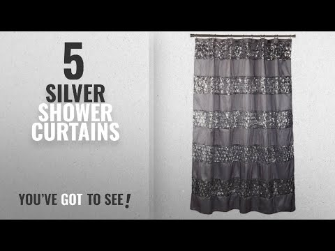 "Top 10 Silver Shower Curtains [2018]: Popular Bath ""Sinatra Silver"" Shower Curtain"