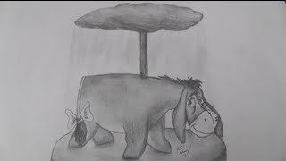 How to draw Eeyore the Carousel Donkey