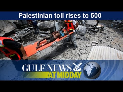 Palestinian death toll rises to 500 - GN Midday