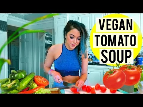 COOKING VEGAN | Vegan Tomato Soup + DOUBLE DATE!