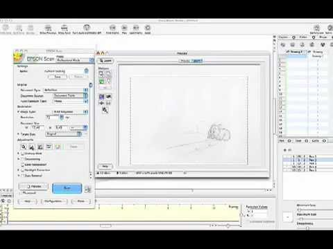 Scanning and Processing Drawings for ToonBoom Studio