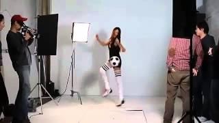 sulli 설리 fx amazing soccer skills